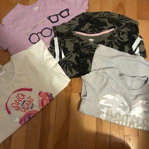 Size 10-12 girls shirt lot